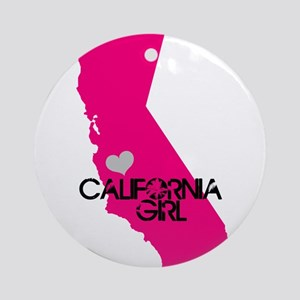 CALIFORNIA GIRL w HEART [4] Ornament (Round)